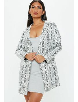 White Snakeprint Trench by Missguided