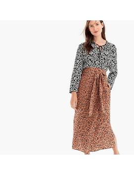 Point Sur High Waisted Silk Wrap Skirt In Blossom Print by J.Crew