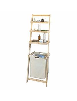 So Buy® Frg160 N, Bathroom Storage Shelf, Ladder Shelf With 3 Storage Shelves &1 Removable Laundry Basket by So Buy