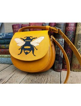 Bumblebee Bag, Yellow Leather Bag, Ladies Handbag, Leather Bag, 3rd Anniversary, Gift For Her, Birthday, Handbag, Cross Body Bag, Bumblebee by Etsy