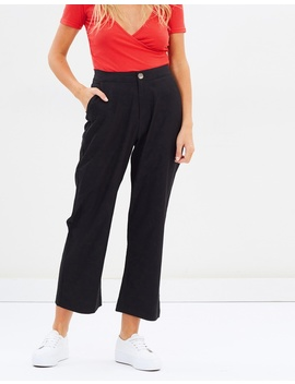 Iconic Exclusive   Linen Blend Cropped Pants by Atmos&Here