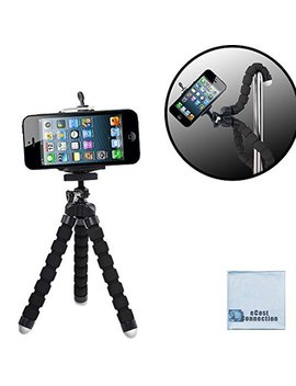 "Acuvar 6.5"" Inch Flexible Tripod With Universal Mount For All I Phones, Samsung Phones And Many More & An E Cost Connection Microfiber Cloth by Acuvar"