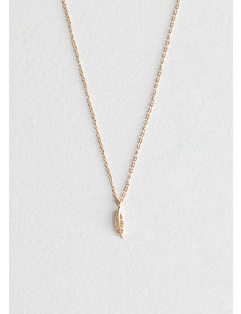 Leaf Pendant Necklace by & Other Stories