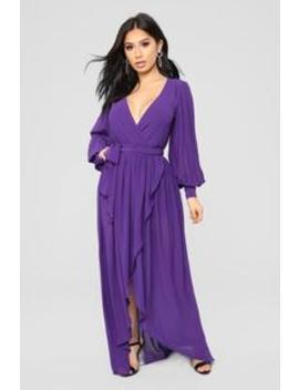 Say Nothing Dress   Purple by Fashion Nova