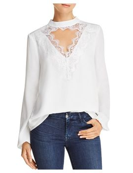 Lace Trim Cutout Top   100 Percents Exclusive by Wayf