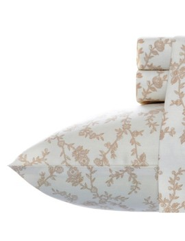 Laura Ashley Victoria Flannel Sheet Set   Beige by Laura Ashley