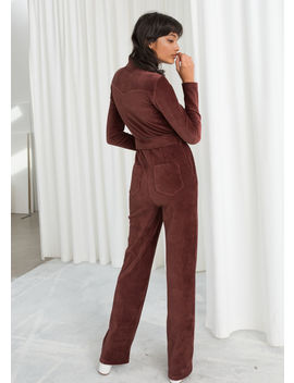 Belted Corduroy Jumpsuit by & Other Stories