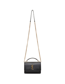 Black Sunset Wallet Chain Bag by Saint Laurent