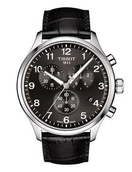 Men's Swiss Chronograph Chrono Xl Classic T Sport Black Leather Strap Watch 45mm by Tissot