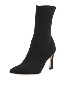 Rapture 75mm Knit Sock Bootie by Stuart Weitzman