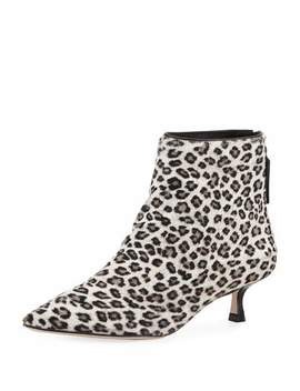 Juniper Leopard Ankle Booties by Stuart Weitzman