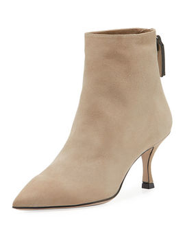 Juniper Suede Point Toe Booties by Stuart Weitzman