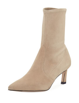Rapture Suede Sock Booties by Stuart Weitzman