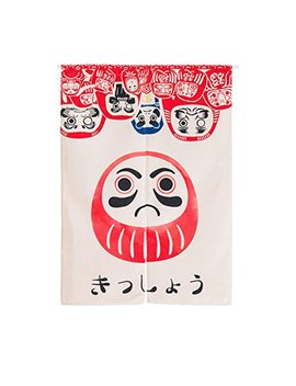 Mr Fantasy Japanese Noren Doorway Curtain/Tapestry Cotton Linen Room Divider Doll Daruma 33x47 Inches by Mr Fantasy