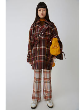 Mackintosh Coat Brown/Burgundy by Acne Studios