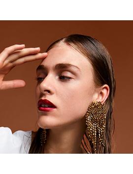 Best Lady Geometric Metal Crystal Stud Tassel Earrings For Women Wedding Party Rhinestone Vintage Gifts Trendy Jewelry Brinco by Best Lady