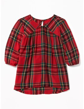 Printed Crepe 3/4 Sleeve Blouse For Girls by Old Navy