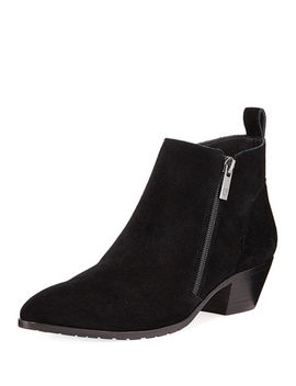 Dixie Pointed Toe Suede Booties by Donald J Pliner