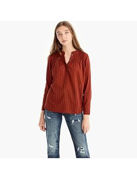 Point Sur Ruffle Classic Popover Shirt In Clip Dot by J.Crew