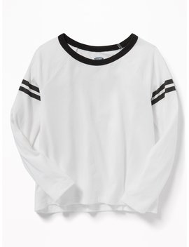 Softest Graphic Raglan Sleeve Tee For Girls by Old Navy