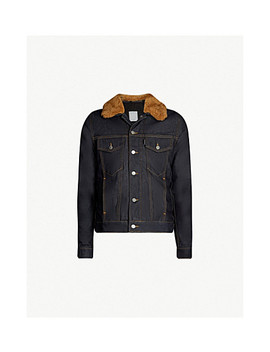 Shearling Collar Denim Jacket by Sandro