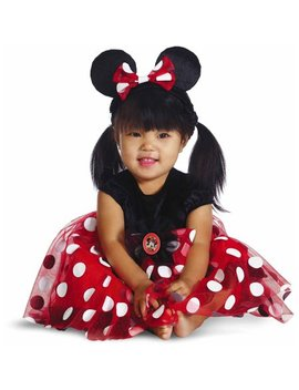 Red Minnie Mouse Deluxe Infant Costume by Disguise