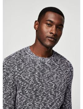 Cotton Chunky Knit Sweater by Mango