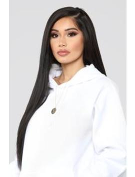 Stole Your Boyfriend's Oversized Hoodie   White by Fashion Nova