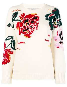 Ermanno Scervinofloral Intarsia Jumper Home Women Ermanno Scervino Clothing Knitted Sweaters by Ermanno Scervino