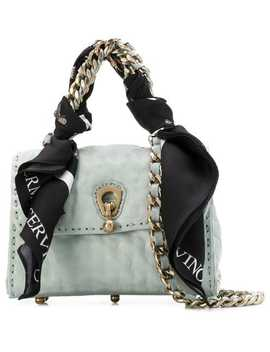 Ermanno Scervinofaubourg Bag With Scarf And Chainhome Women Ermanno Scervino Bags Tote Bagsblack 60 Lace Up Leather Bootswhite Fato Shell Hoop Earringshigh Waisted Faux Leather Wrap Skirtcashmere Roll Neck Sweater Fairmont Leopard Print Cross Body Bagfaubou... by Ermanno Scervino
