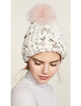 Beanie Pomster Hat by Mischa Lampert