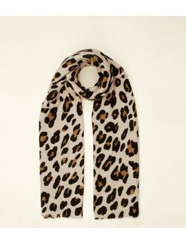 Brown Leopard Print Scarf by New Look