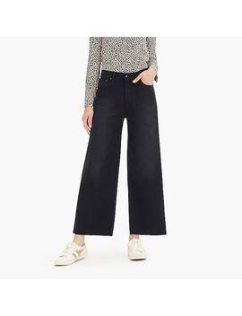Point Sur Wide Leg Crop Jean In Black by J.Crew