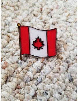 Handmade Canadian Flag Pin by Etsy