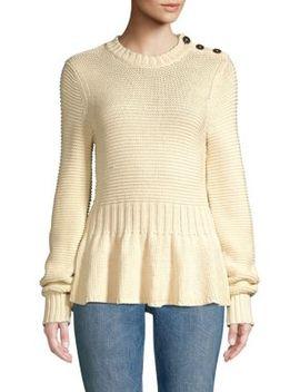 Peplum Sweater by La Vie Rebecca Taylor
