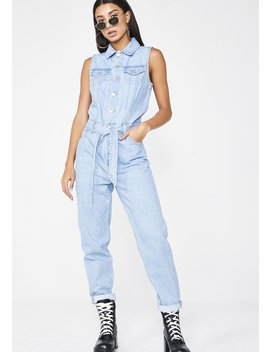 In A Snap Tapered Jumpsuit by Levis