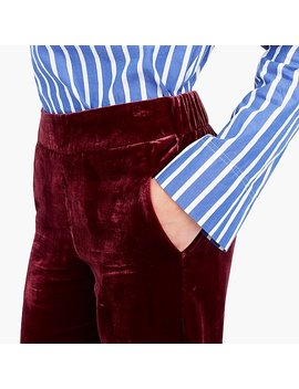 Pull On Easy Pant In Velvet by J.Crew