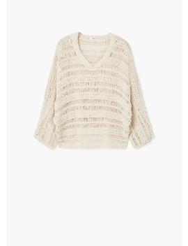 Sweter Ażurowa Dzianina by Mango