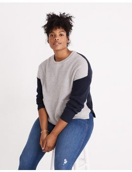 Patch Pocket Pullover Sweater In Colorblock by Madewell