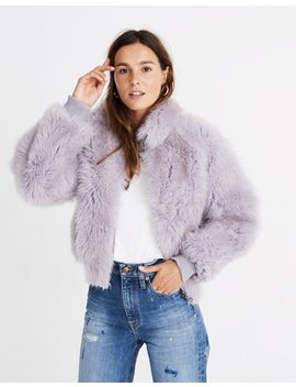 Mongolian Shearling Bomber Jacket by Madewell