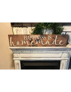 Happiness Is Homemade Sign / Kitchen Sign / Cooking Sign / Farmhouse Kitchen Sign by Etsy