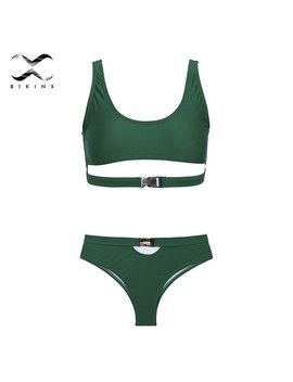 Bandage Sexy Two Piece Suit Solid Swimsuit Women Thong Push Up Swimwear Female Summer Swimming Suit High Waist Micro Bikini Set by Swmmer Liket
