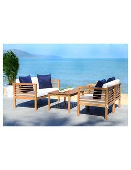 Alda 4pc Patio Seating Set   Safavieh by Safavieh
