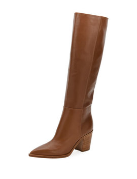 Leather To The Knee Boot by Gianvito Rossi