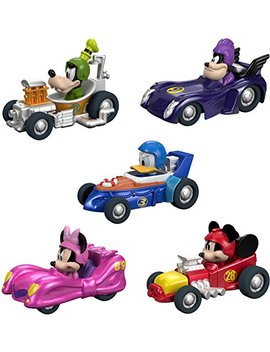 Fisher Price Disney Mickey & The Roadster Racers, Hot Rod Vehicles, 5 Pack by Fisher Price