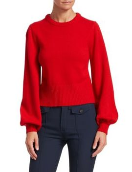 Iconic Cashmere Bell Sleeve Sweater by Chloé