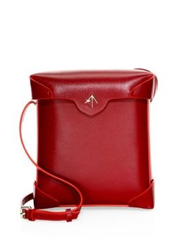 Pristine Leather Box Bag by Manu Atelier