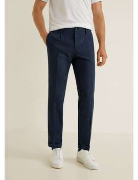 Regular Fit Wool Trousers by Mango