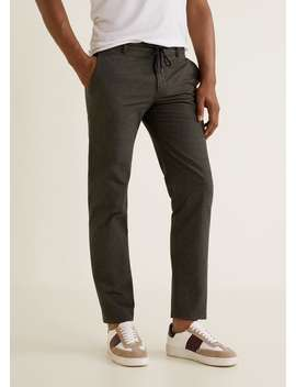 Regular Fit Cotton Trousers by Mango