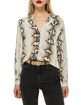 Jessica Snake Print Shirt by Topshop